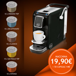 Macchina ALEX PLUS BLACK € 19,90 + kit 50 capsule